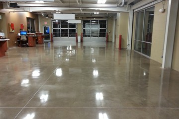 Flawless grind polish flooring polished concrete for How to shine cement floor