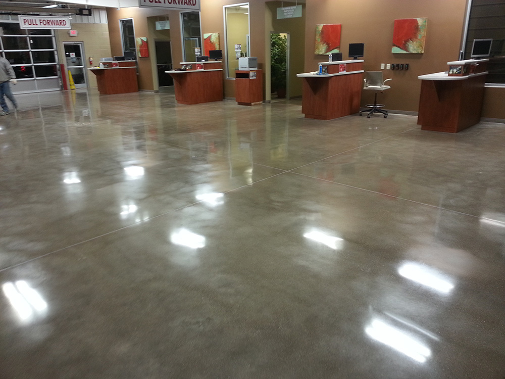 Polished concrete atlanta ga contractors for How to clean polished floors