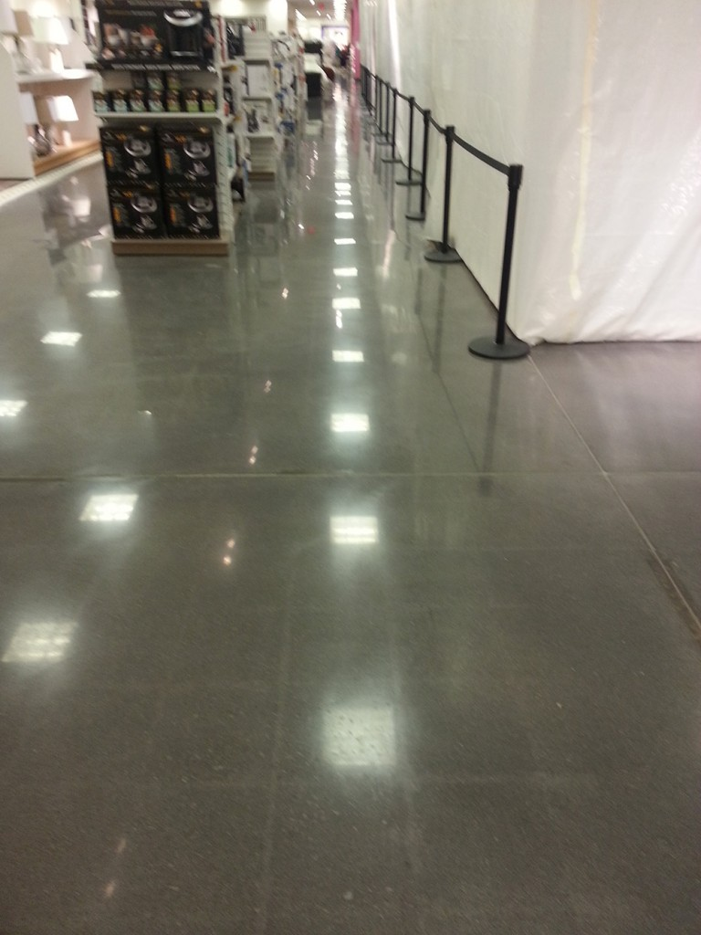 Concrete floor staining services by atlanta ga contractors for Stained polished concrete floor