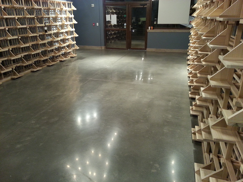 Wine Cellar Polished Concrete Floor By Fg Pf & Wine Cellars Atlanta - Natashamillerweb