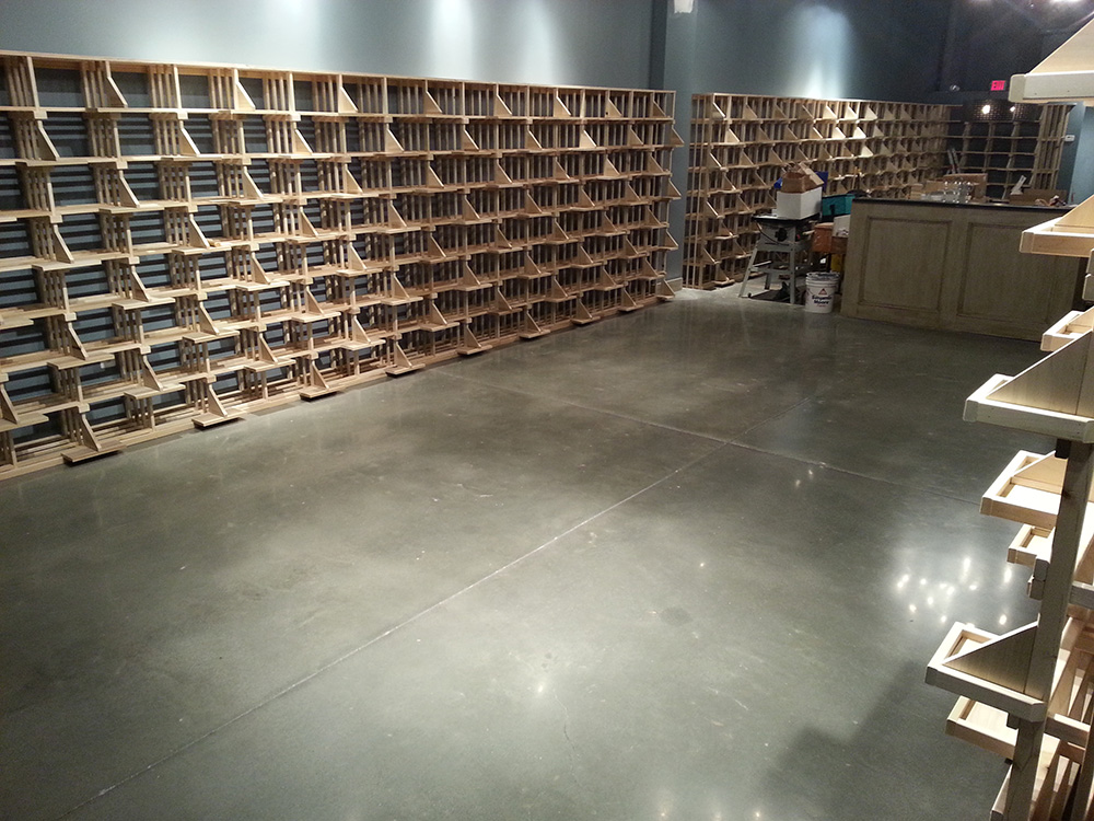 Wine cellar polished concrete floor by fg pf for Wine cellar in floor