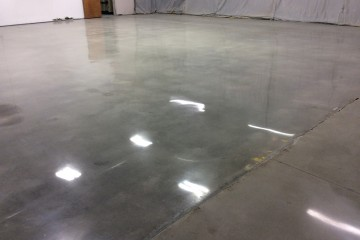 Polished concrete floors in Doraville GA factory
