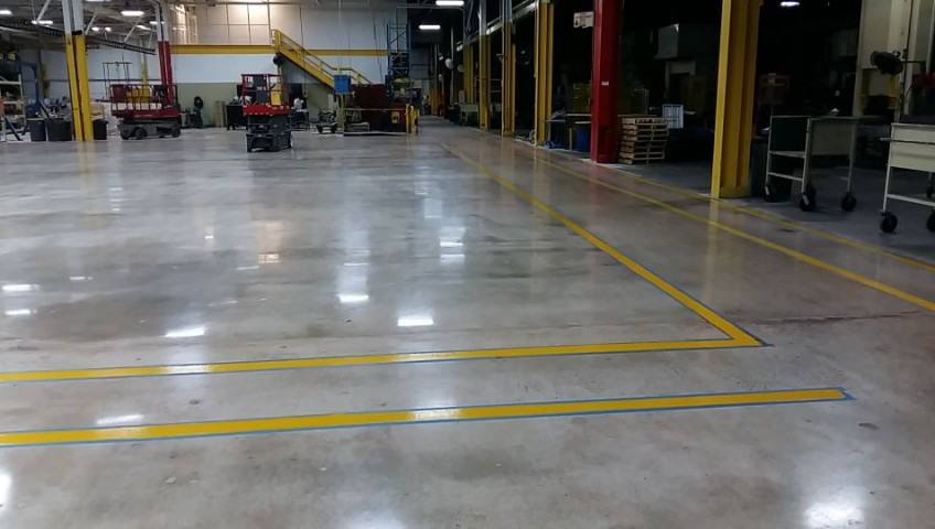Polished Concrete Floor At Hart & Cooley Inc