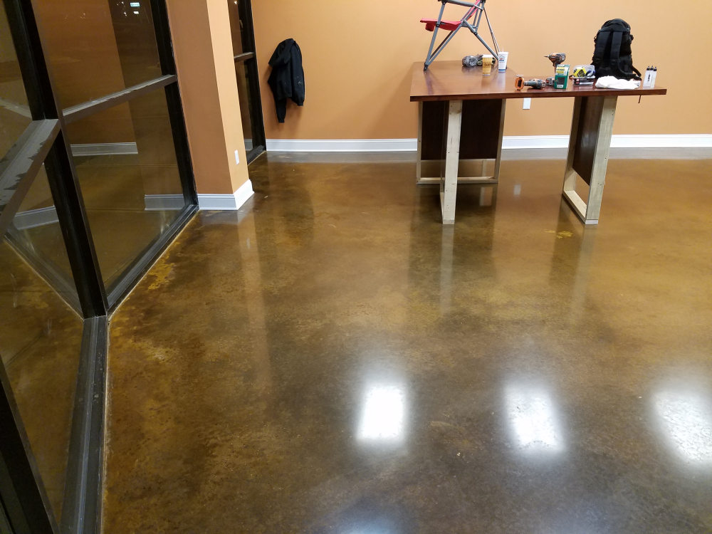 Polished concrete firehouse vapes in fayetteville ga for Georgia floor