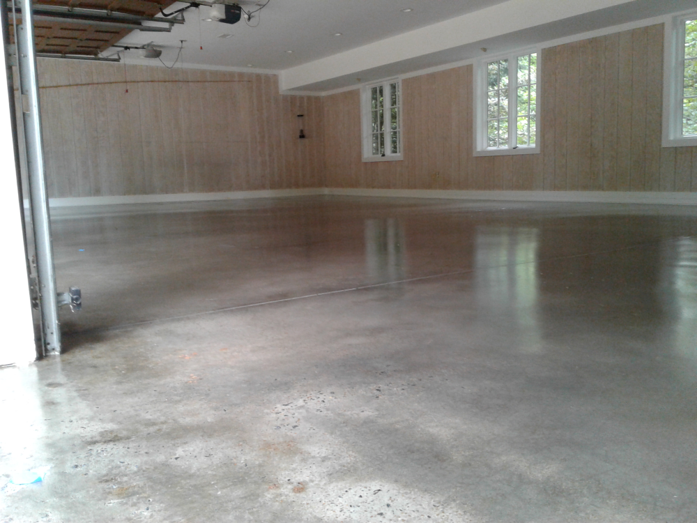grind polish and seal 6 car garage in buckhead ga - 6 Car Garage