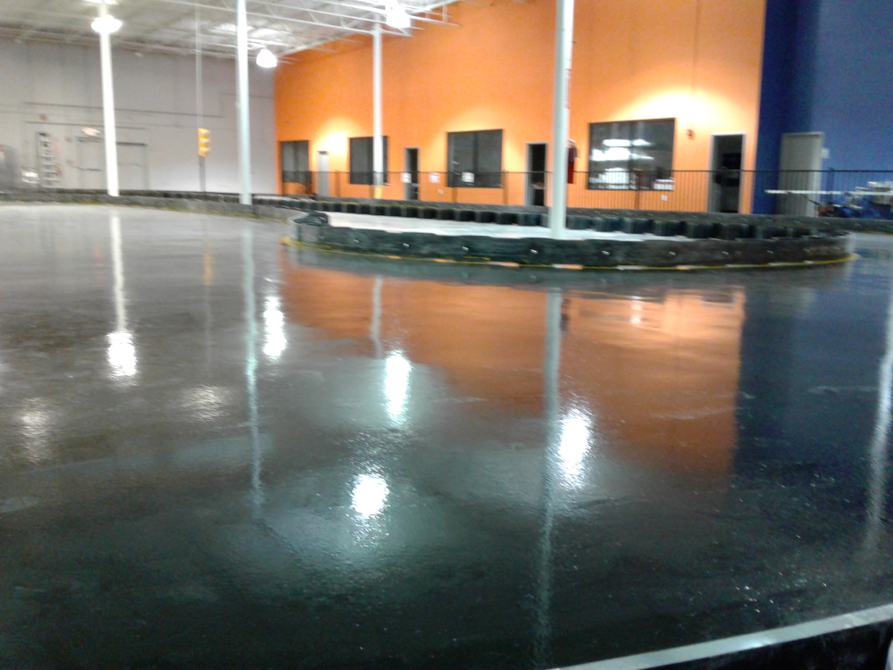 Epoxy Floor At Indoor Entertainment Park In Lithonia Ga