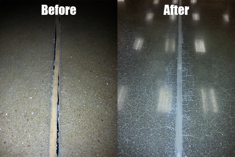 Concrete floor repair before and after 1