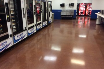 Flawless grind polish flooring polished concrete for Mechanic shop flooring