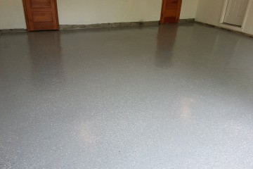 Flake-epoxy-system-garage-floor-Atlanta-GA-1