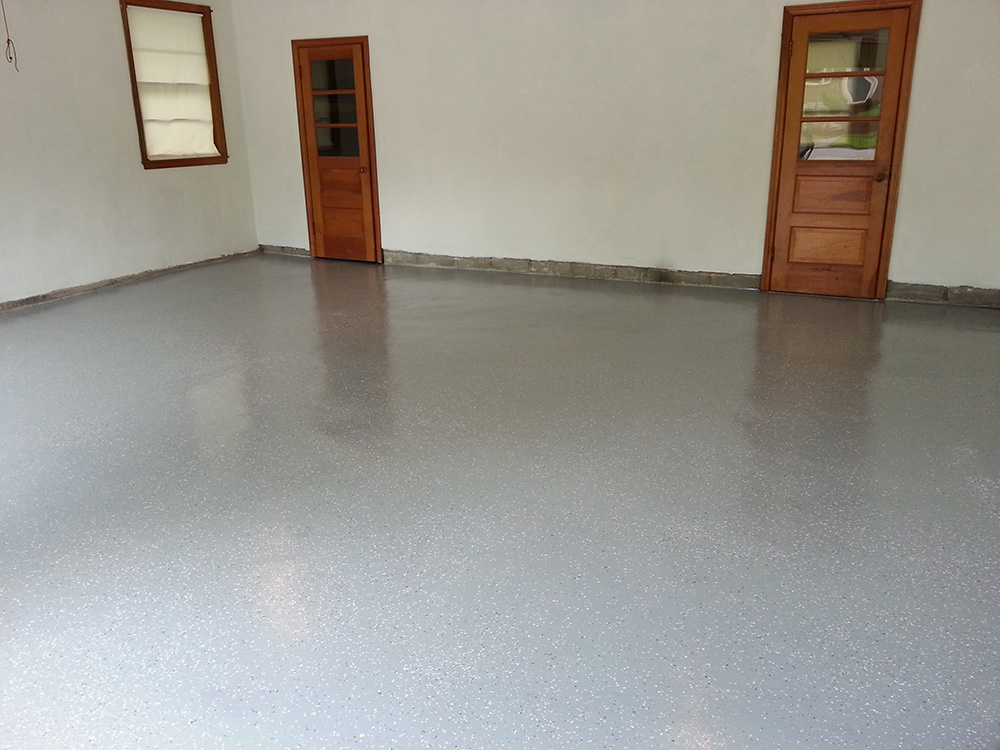 Flake Epoxy System Garage Floor