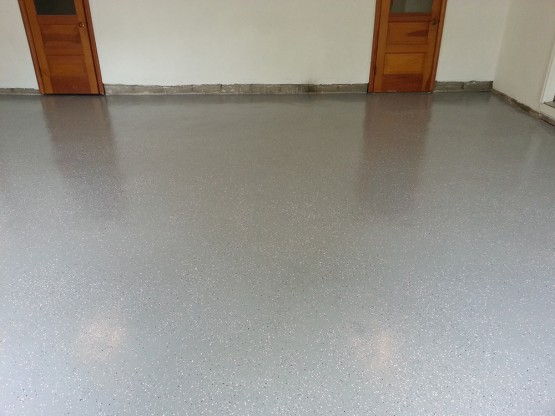 Flake-epoxy-system-garage-floor-Atlanta-GA-3