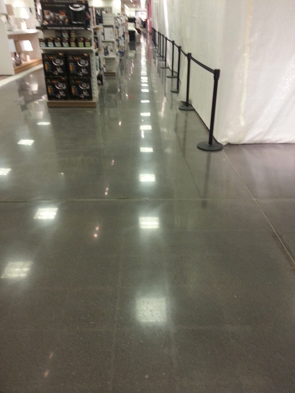 Retail Store Runway Stain And Polished Floor