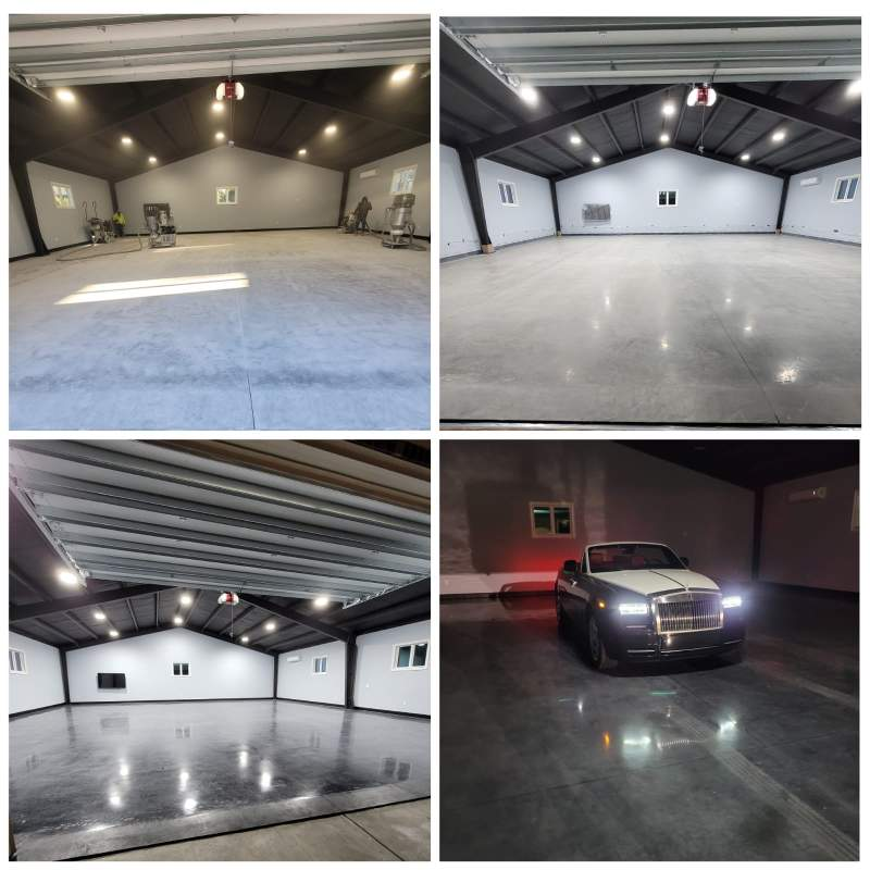 Garage Grind and Polish with Stain Myrtle Beach, SC